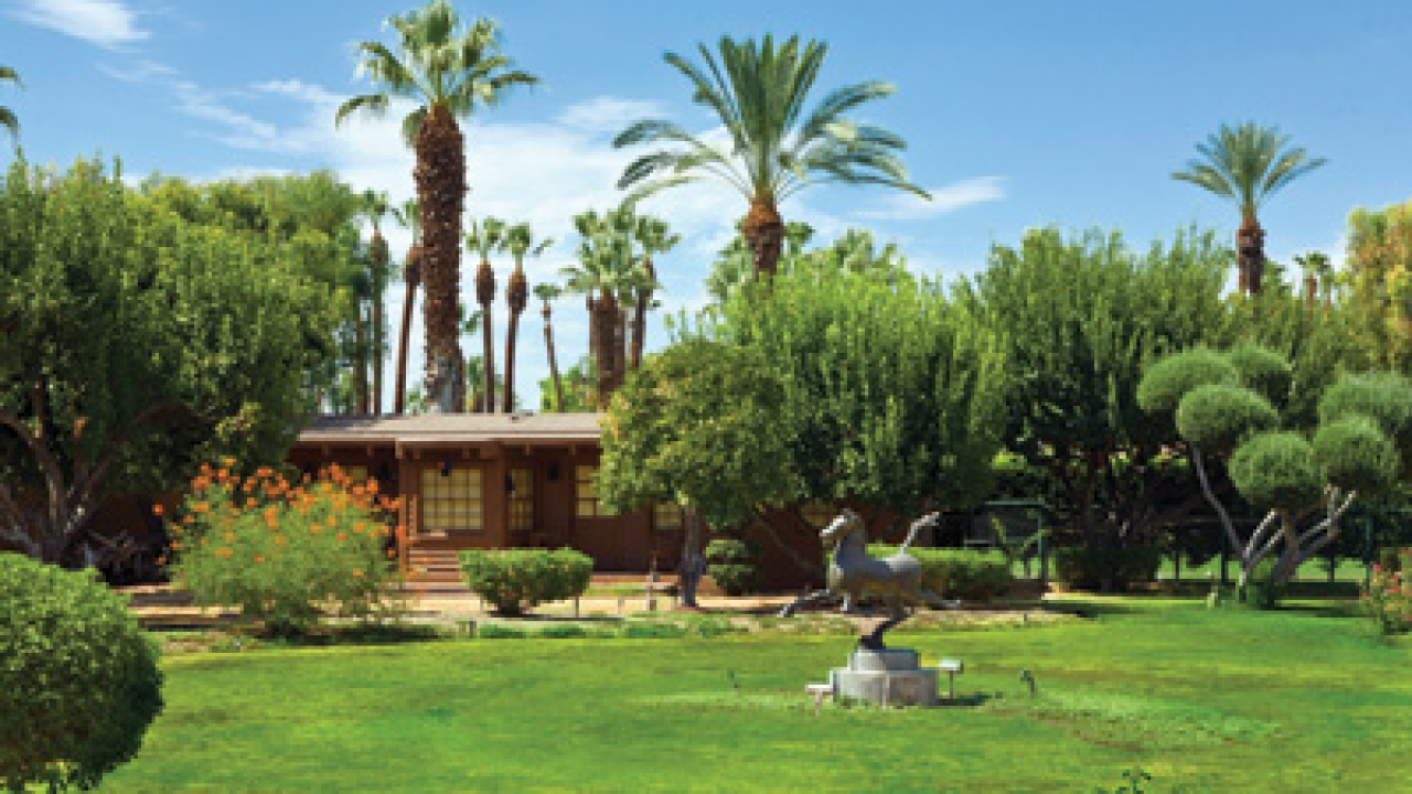 The Lowdown: Big, bold, and lavish. With eight buildings on the property, which sits at the base of Tamarisk Country Club, we expected nothing less. The main house, where Sinatra lived between 1954 and 1995, is said to be nearly 8,000 square feet. Guest quarters chime in at 4,500 square feet.